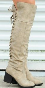 Faux Laceup Boots